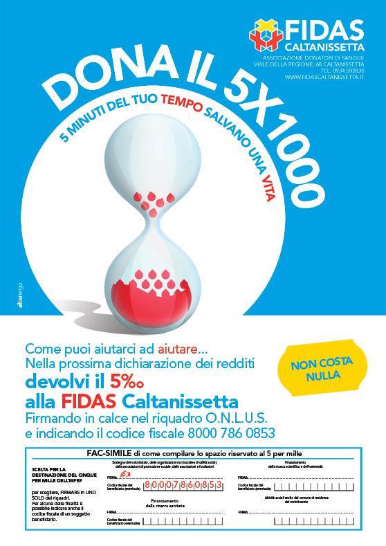 Il 5x1000 alla FIDAS Caltanissetta